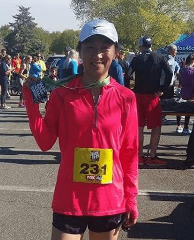 Hygienist Julie during a marathon