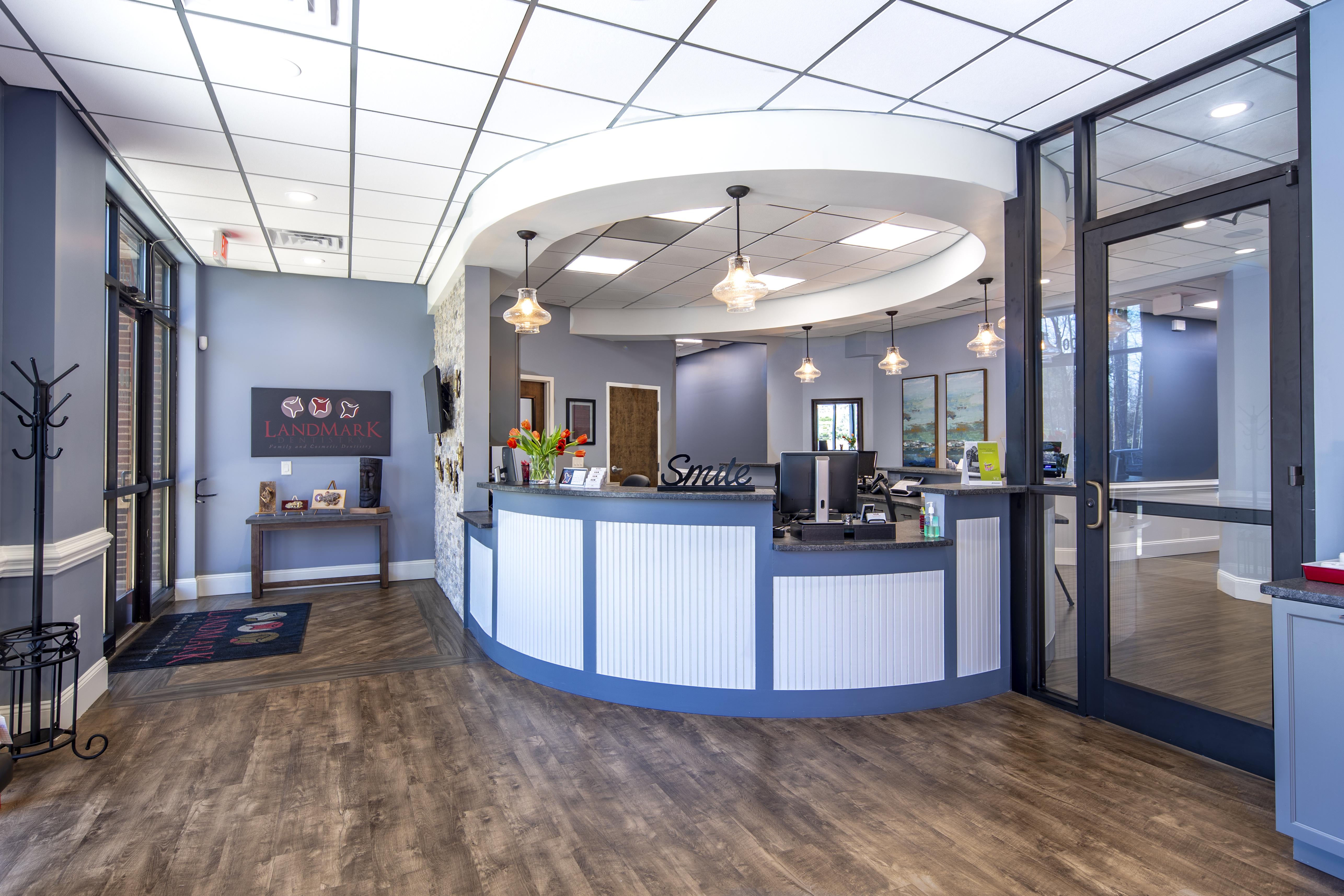 Reception area - LandMark Dentistry Matthews location