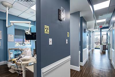 The interior of a LandMark Dentistry office