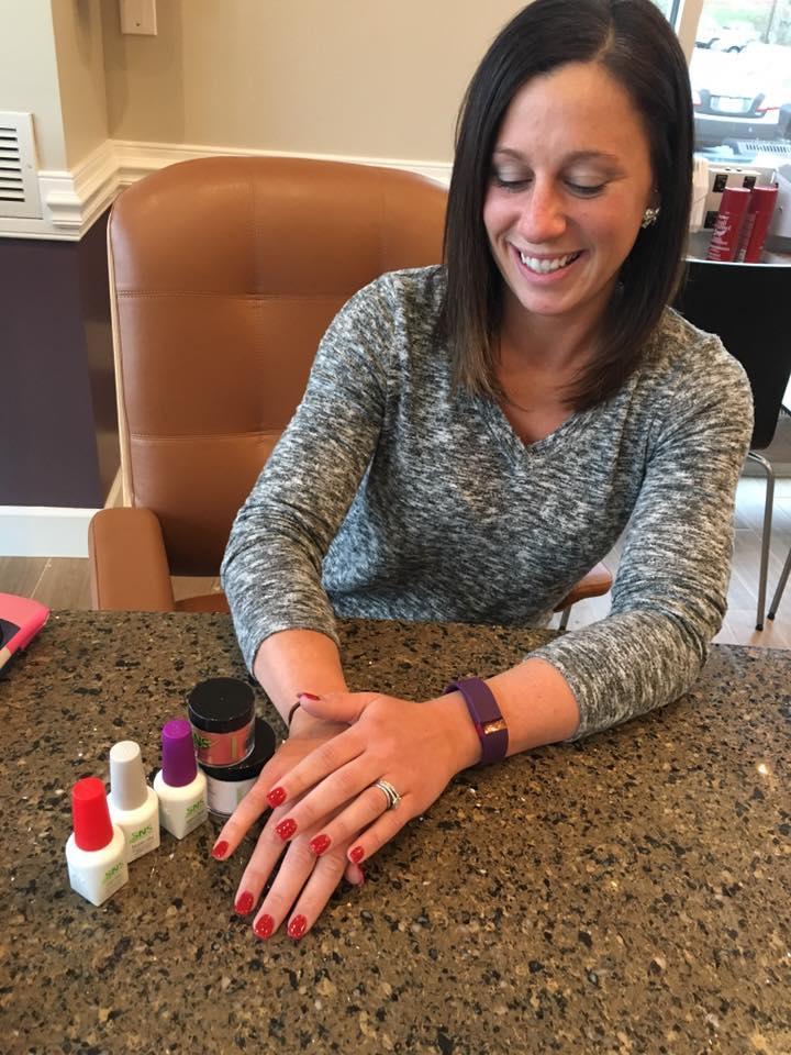 A happy customer at LH Nail Salon in Mallard Creek, Charlotte, NC