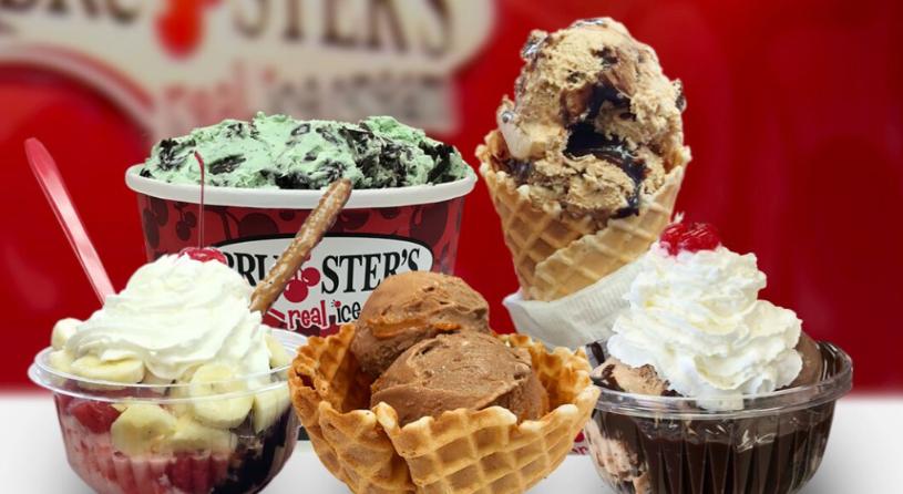 Varieties of ice-creams at Bruster's Ice Cream