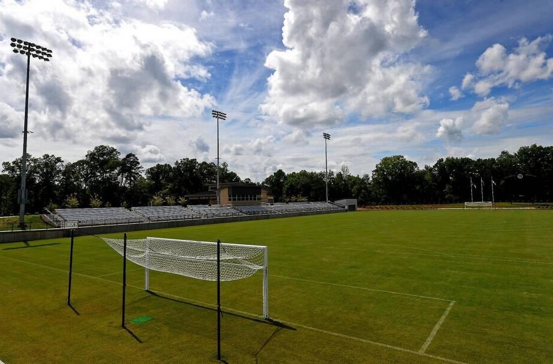 Soccer field in Sportsplex at Matthews, NC