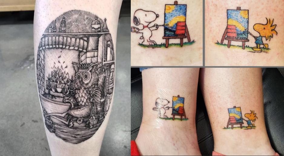 creative tattoos made by tattoo artists at Divine Arts Tattoo in Matthews
