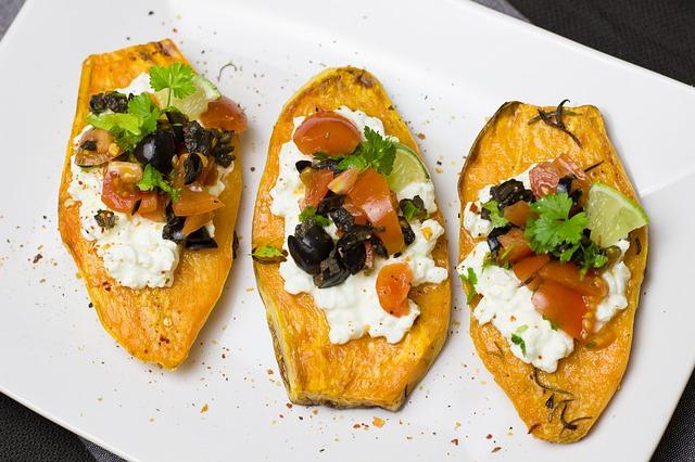 Use sweet potato as a healthy alternative for your tortilla wraps.
